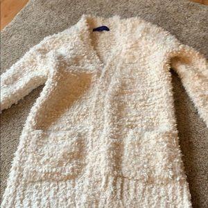 White fluffy cardigan